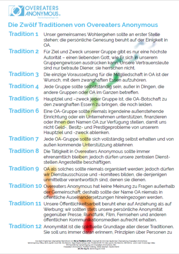 Die 12 Traditionen als Download